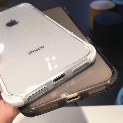 Luxury Anti-Fall Glitter Powder Glass iPhone Case
